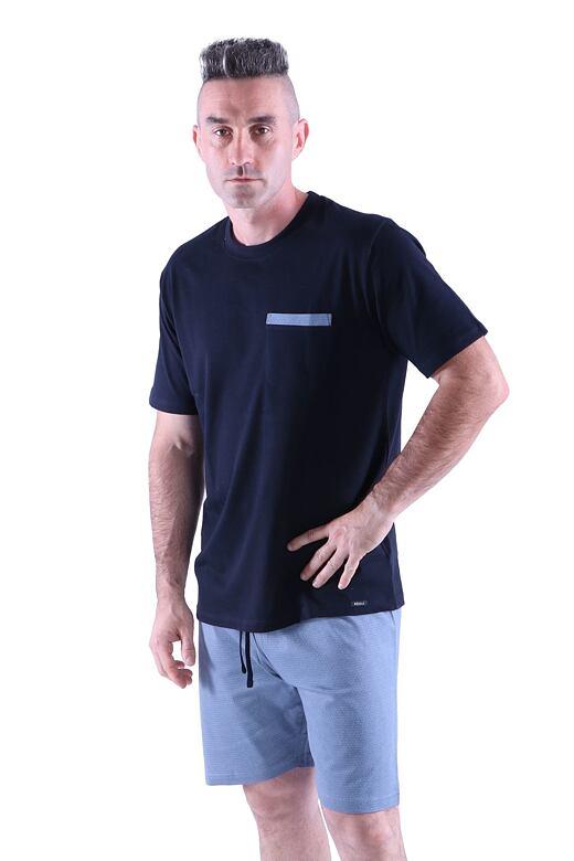 Pánské pyžamo Matty černé XL