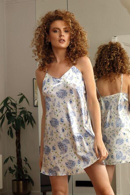 Saténová košilka Karen flowers 2 S - Dárkové balení
