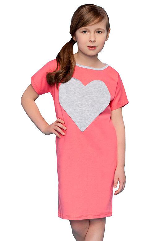 Dívčí noční košile Pippa se srdcem