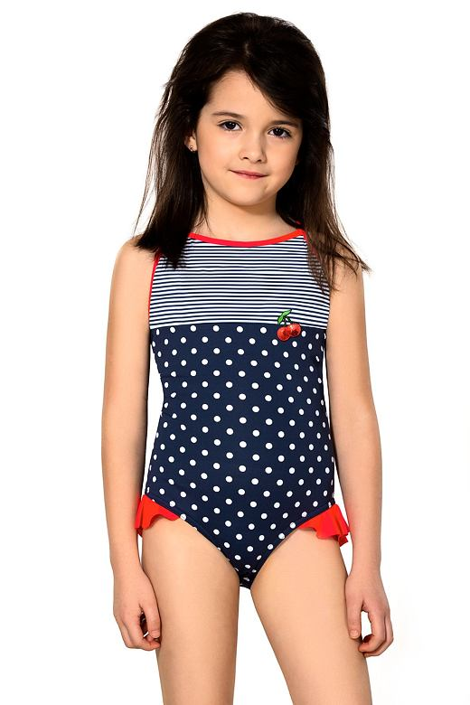 9b9f68e52960 Dívčí jednodílné plavky Sárinka modré