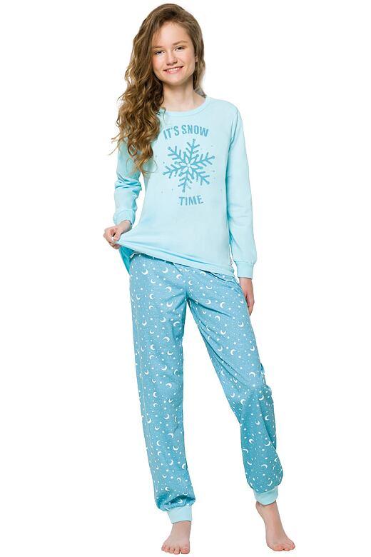 Dětské pyžamo s vločkami Nora Snow modré