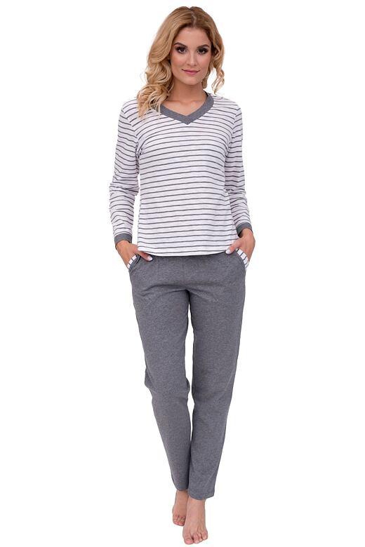 Luxusní dámské pyžamo Lucie šedé
