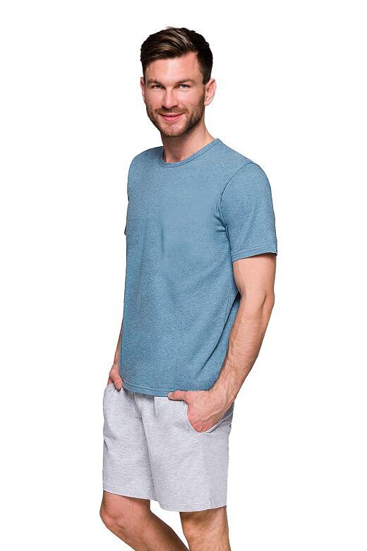 Pánské pyžamo s kapsami Karel modré M