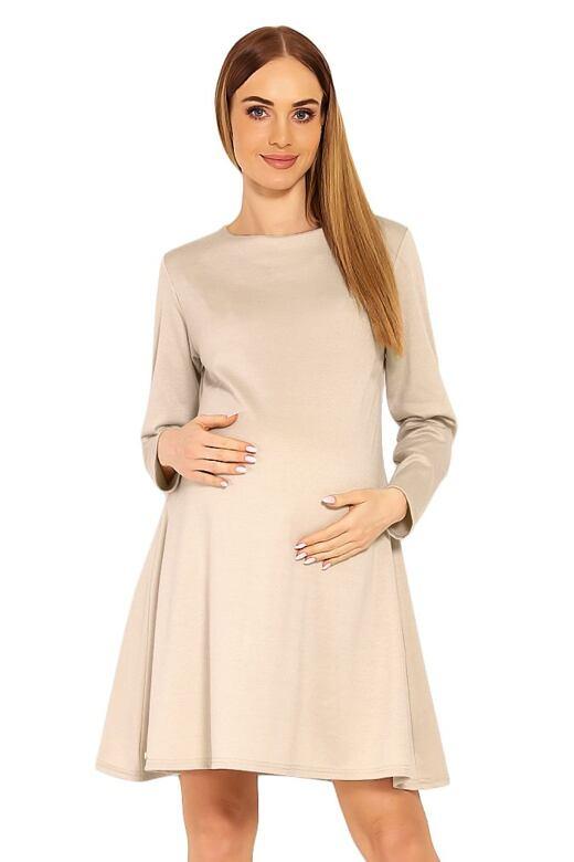 1eaed40e7c Těhotenské šaty Nathy béžové