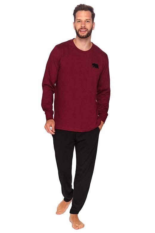 Pánské pyžamo Bear bordó XL