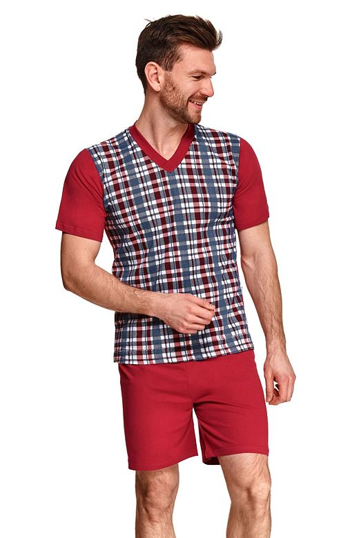 Pánské pyžamo Roman vínové XXL