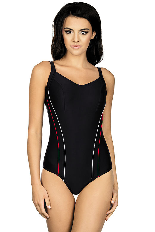 Jednodílné sportovní plavky Julie černé dab1b12529