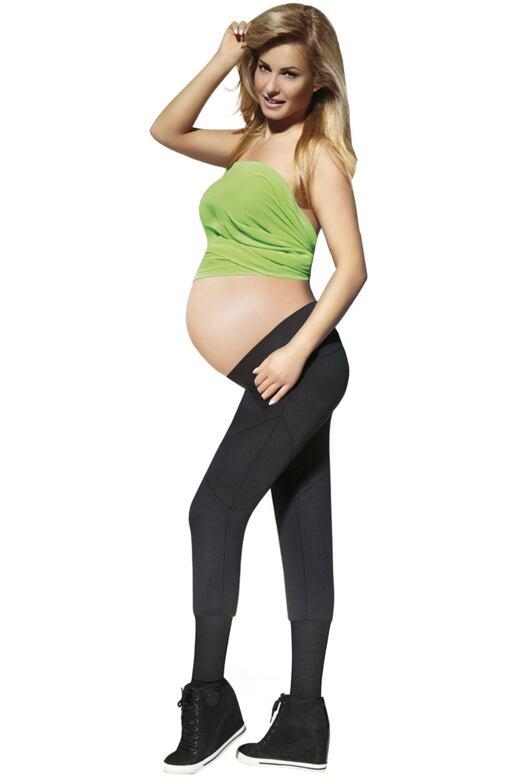 Těhotenské legíny Veronica 200 DEN černé XXL