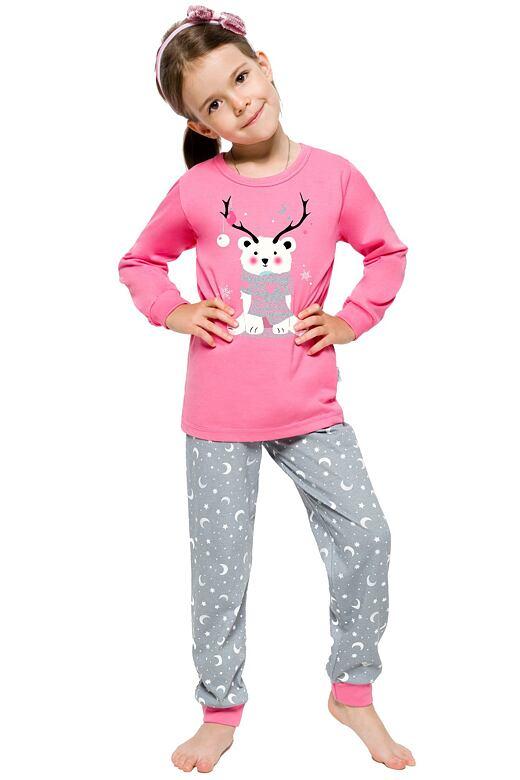Dívčí vánoční pyžamo s medvídkem Ada růžové