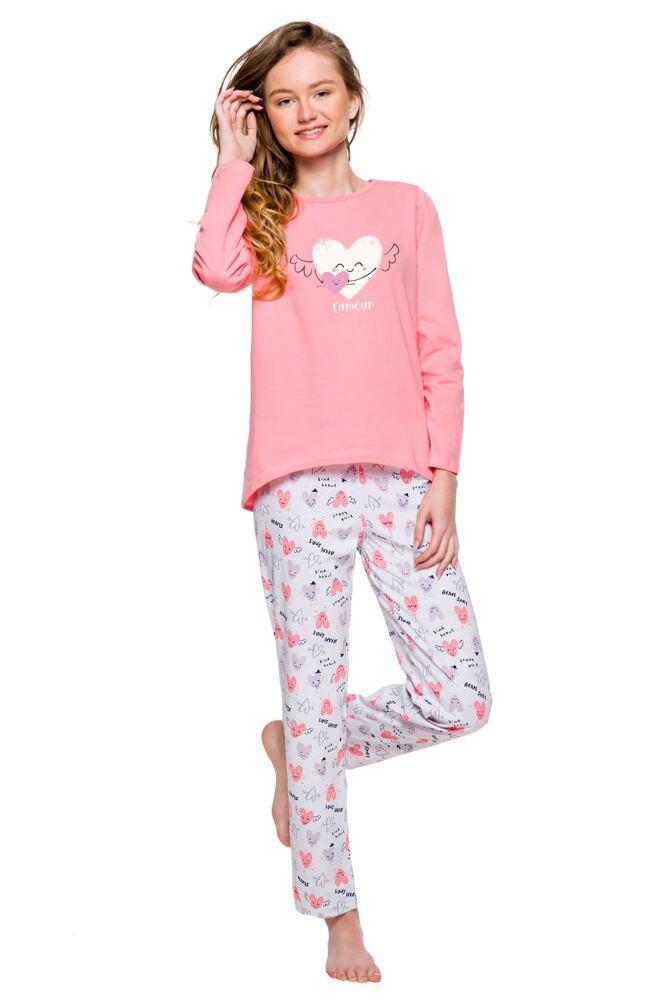 Dívčí pyžamo Maja srdce dlouhé velikost 146