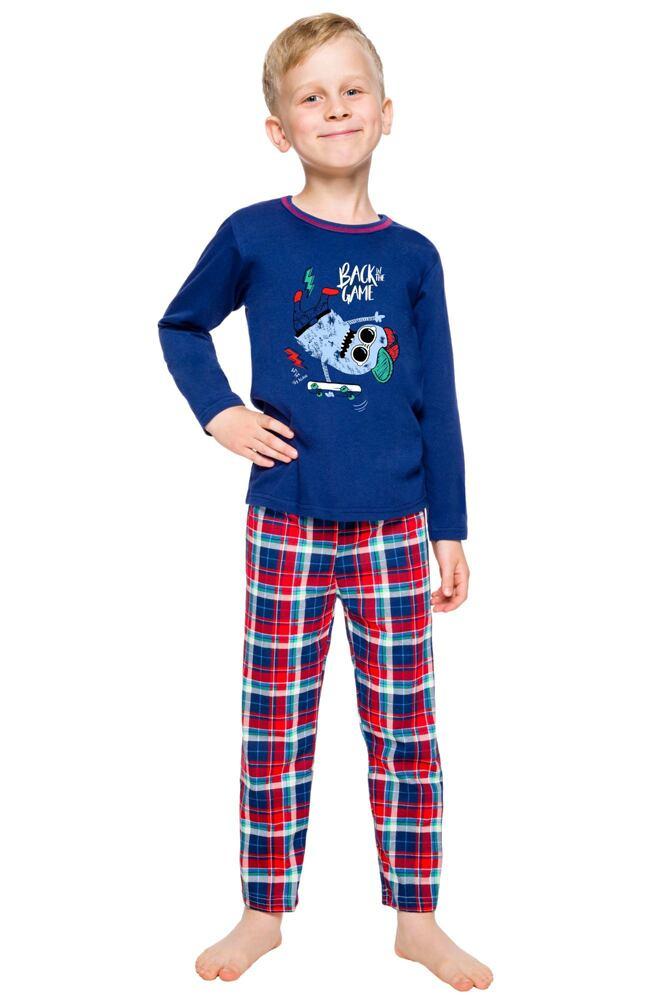 Klučičí pyžamo Leo tmavě modré velikost 98