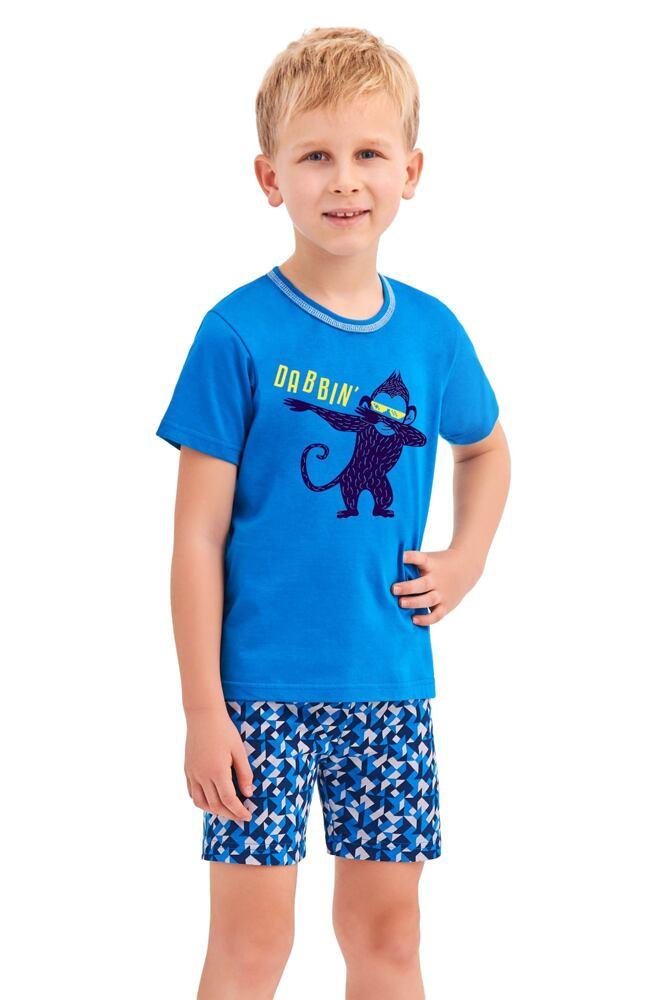 Chlapecké pyžamo Damian modré opice velikost 86