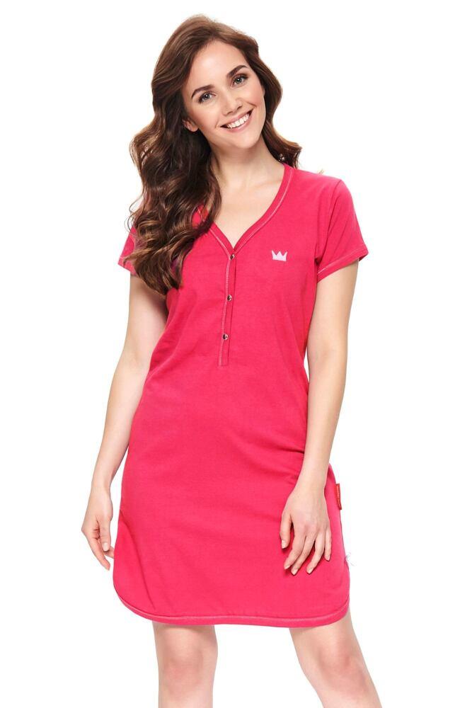 Dámská bavlněná noční košile Lor růžová velikost S
