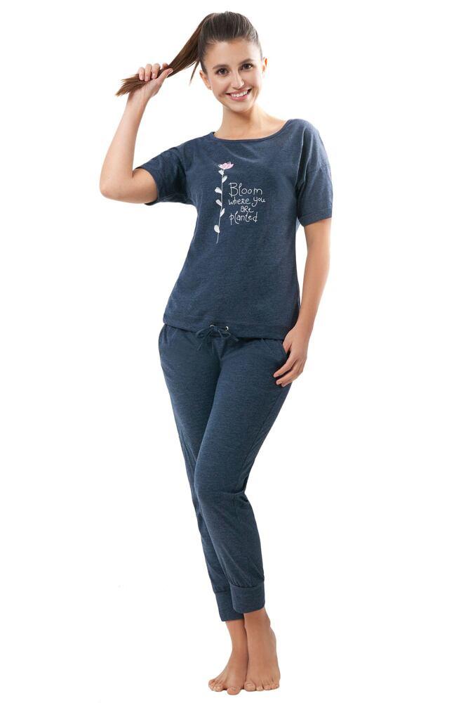 Dámské pyžamo Madison tmavě modré velikost XXL