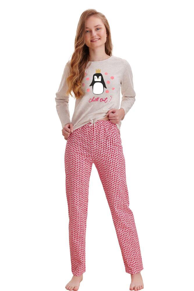 Dívčí pyžamo Maja béžové chill out velikost 146