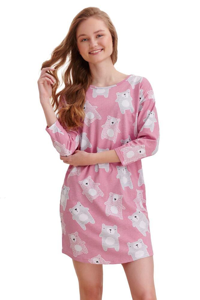 Dívčí košilka Molly starorůžová medvědi velikost 146