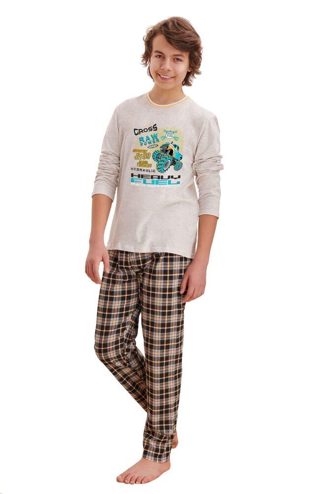 Chlapecké pyžamo Leo cross béžové velikost 146