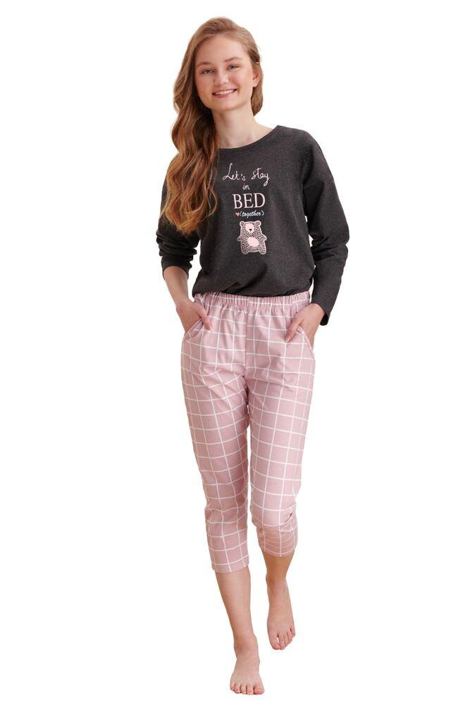 Dívčí pyžamo Molly tmavě šedé velikost 146