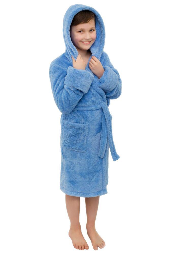 Chlapecký župánek Bruno modrý velikost 134