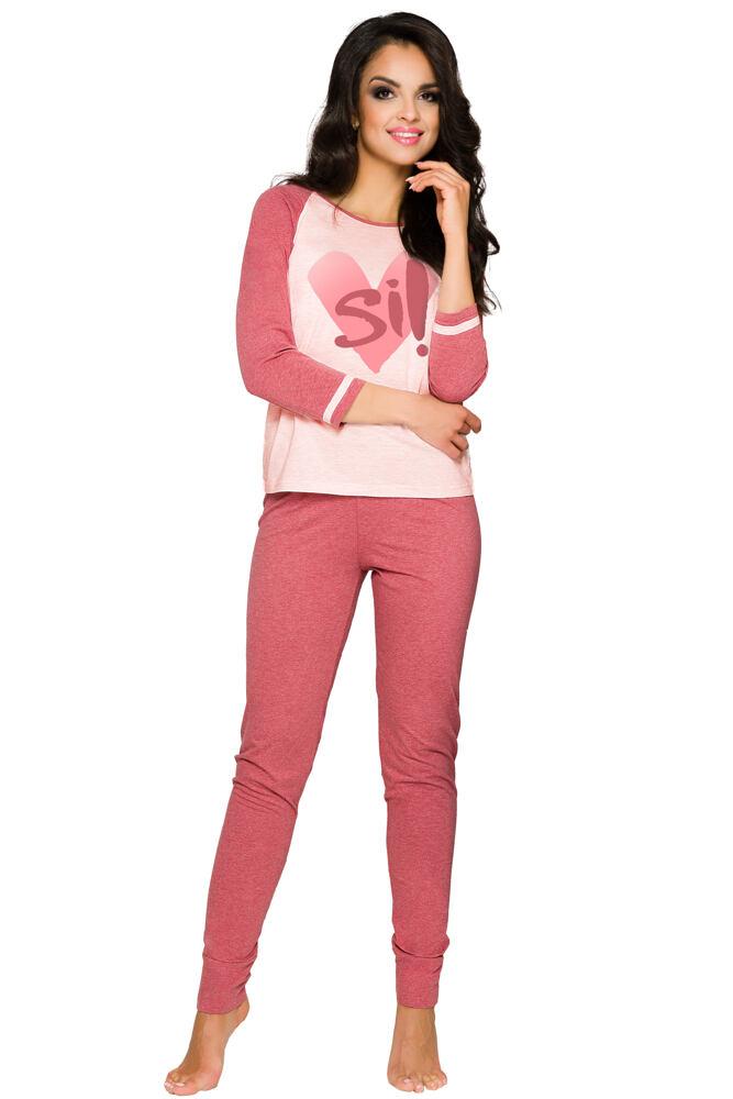 Dámské bavlněné vínové pyžamo Hana velikost L