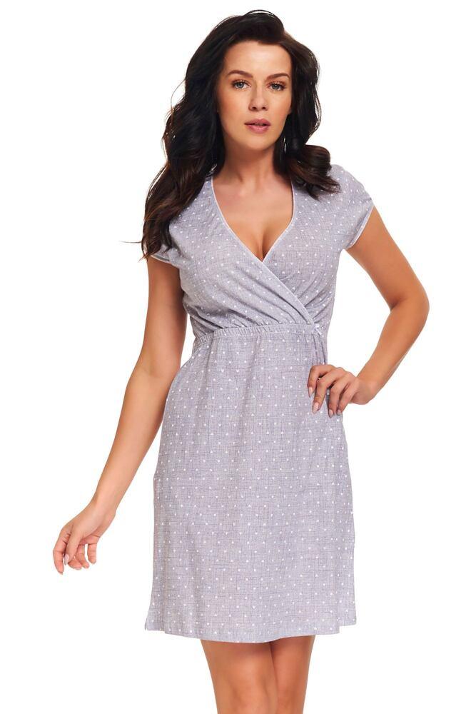 Těhotenská a kojicí noční košile Amoresa srdíčka velikost S