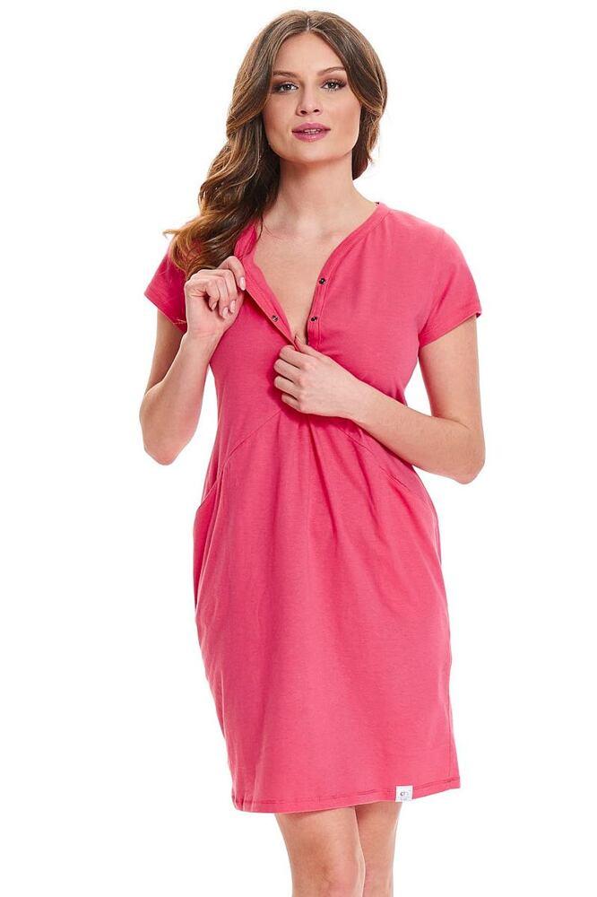 Mateřská noční košile Lesley růžová velikost S