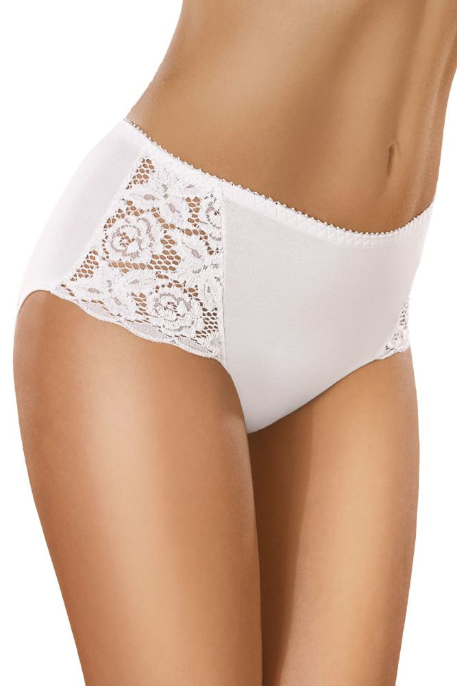 Bavlněné kalhotky s vyšším pasem 29 bílé velikost M