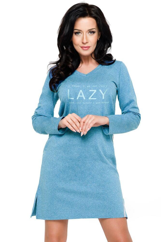 Dámská noční košile Lazy modrá/olivová velikost M