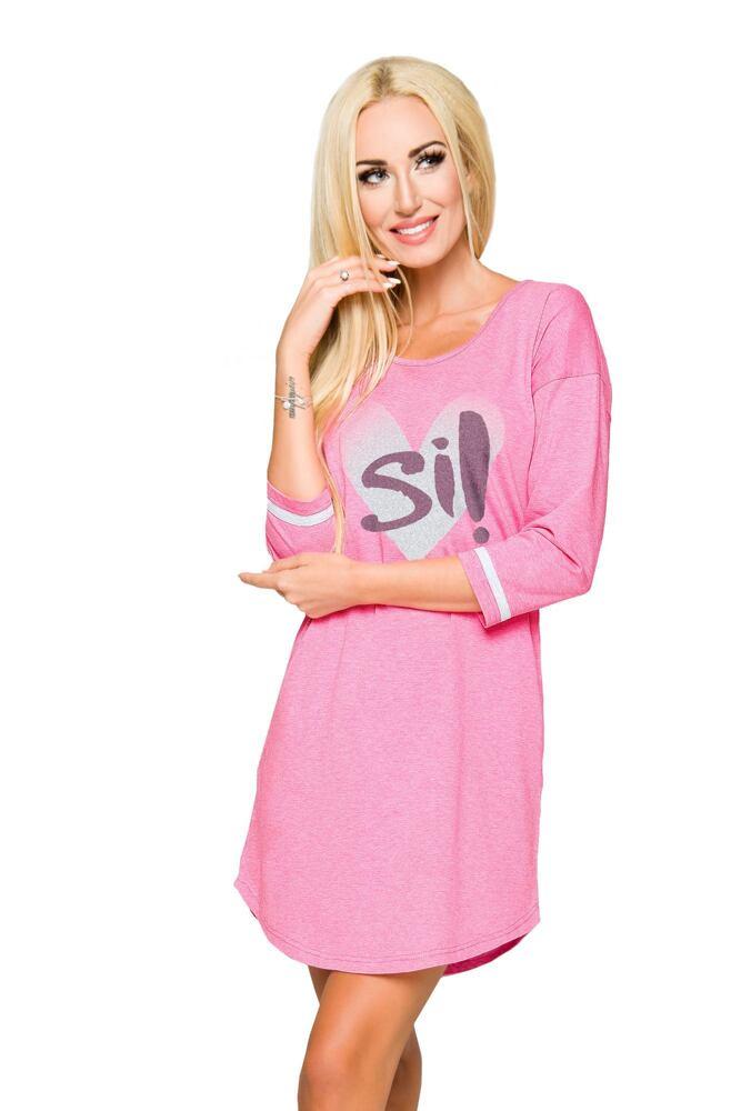 Dámská bavlněná noční košile Hana růžová velikost S