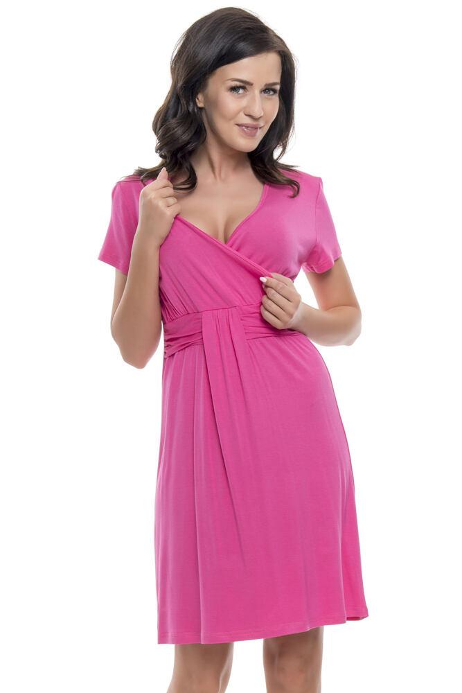 Těhotenská a kojicí košile Tara růžová velikost M