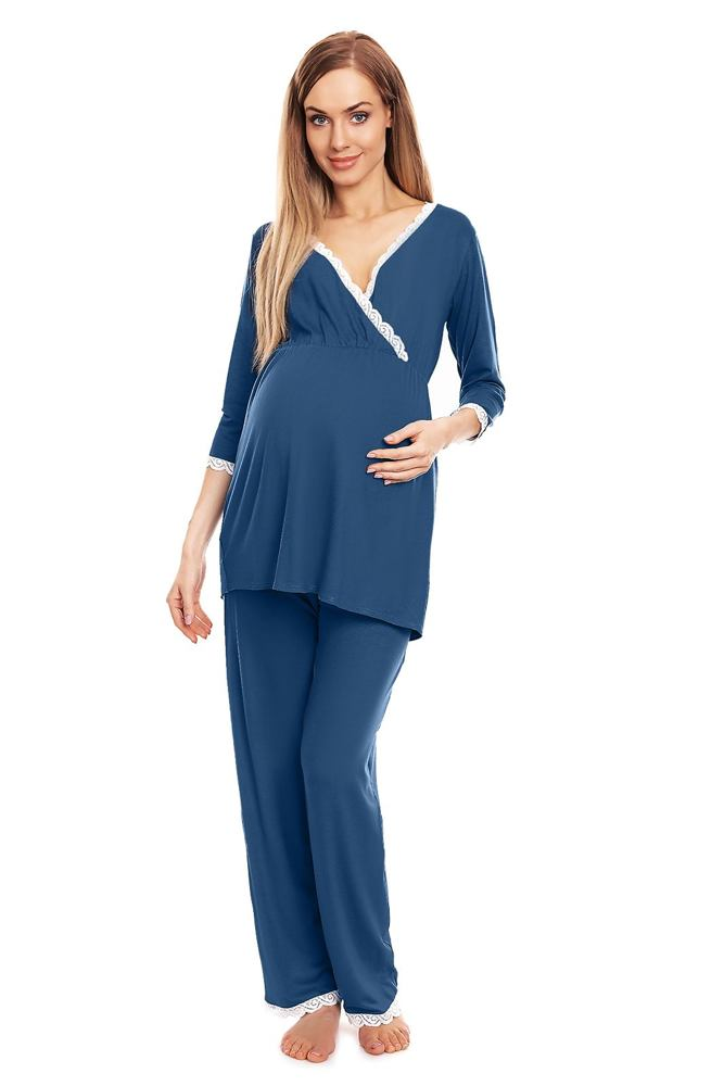 Mateřské pyžamo Agata modré velikost S/M