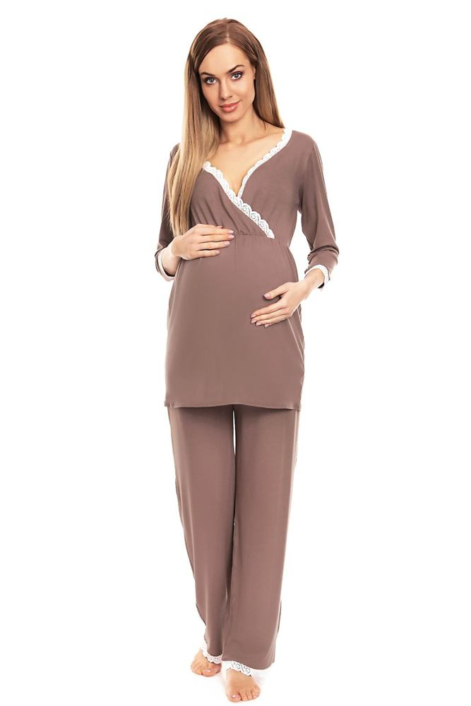 Mateřské pyžamo Agata cappuccino velikost S/M