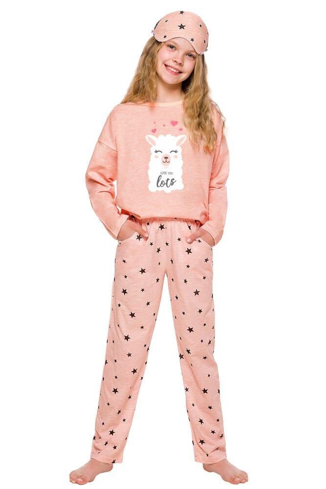 Dívčí pyžamo Sofie růžové s lamou velikost 104