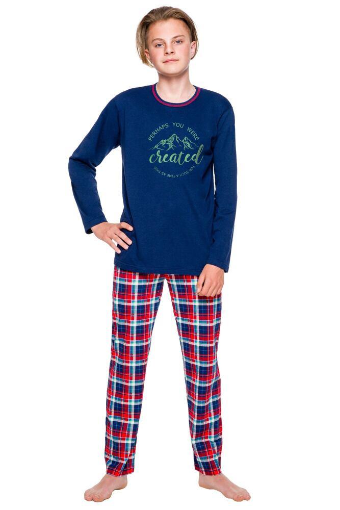 Chlapecké pyžamo dlouhé Leo modré velikost 146