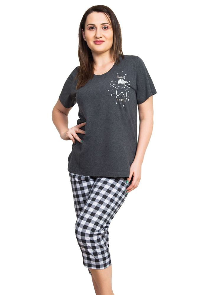 Dámské pyžamo Alice tmavě šedé velikost XXL
