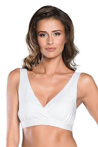 Kojicí a těhotenská podprsenka Margo bílá velikost S