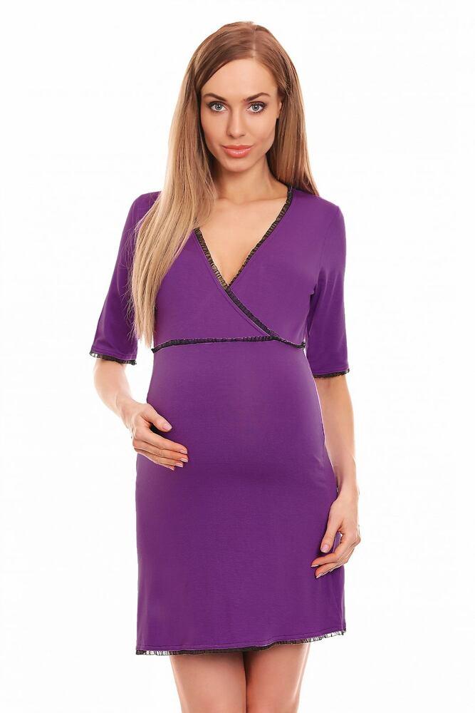 Mateřská noční košile Becky fialová velikost S/M