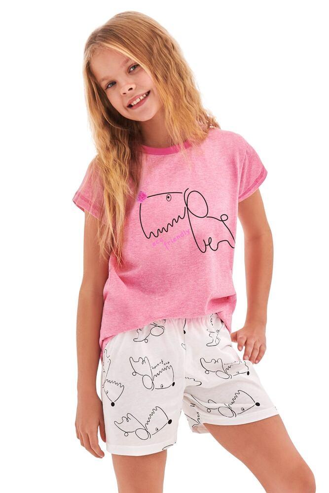 Dívčí pyžamo Hanička růžové dog velikost 86