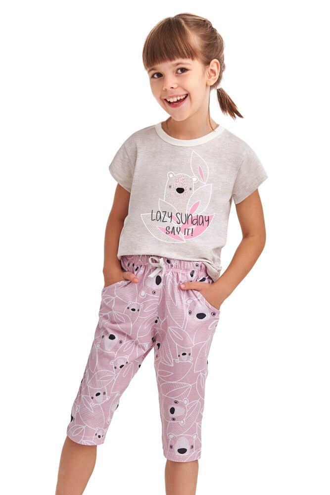 Dívčí pyžamo Beky béžové koala velikost 104