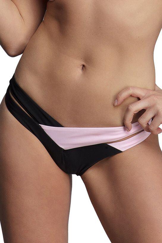 Světle růžové plavkové kalhotky Ester velikost L