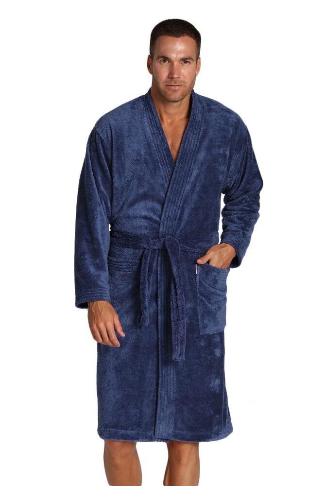 Pánský župan Hugo modrý velikost L