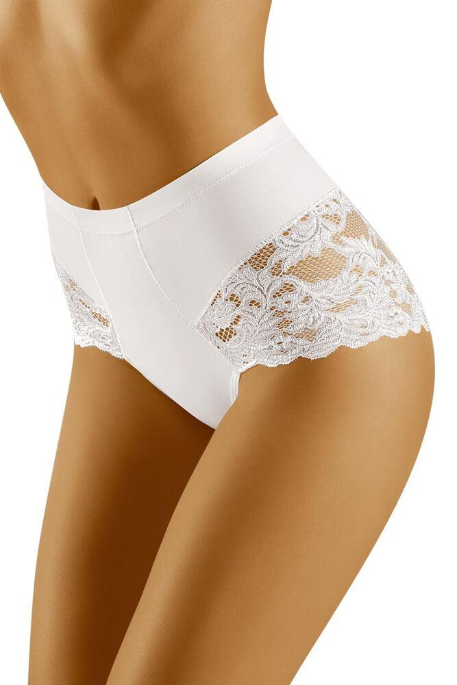 Stahovací kalhotky s krajkou Slimea bílé velikost S
