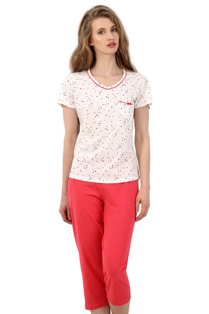 Dámské bavlněné pyžamo Markéta s puntíky velikost S