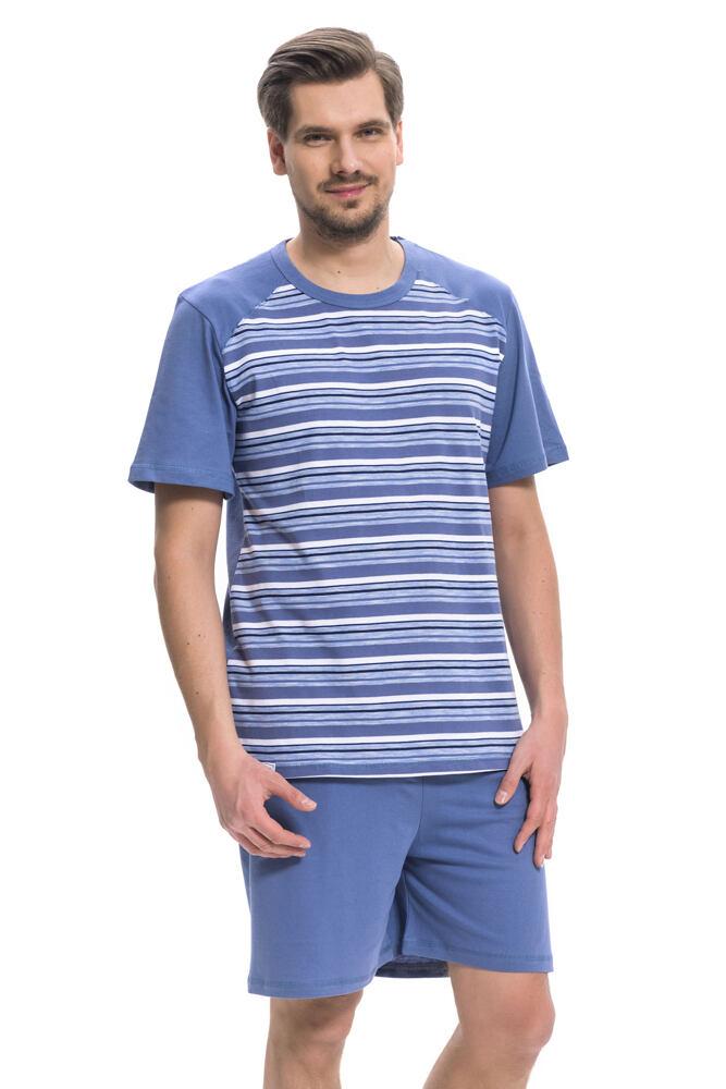 Pánské bavlněné pyžamo Rudolf modré velikost L