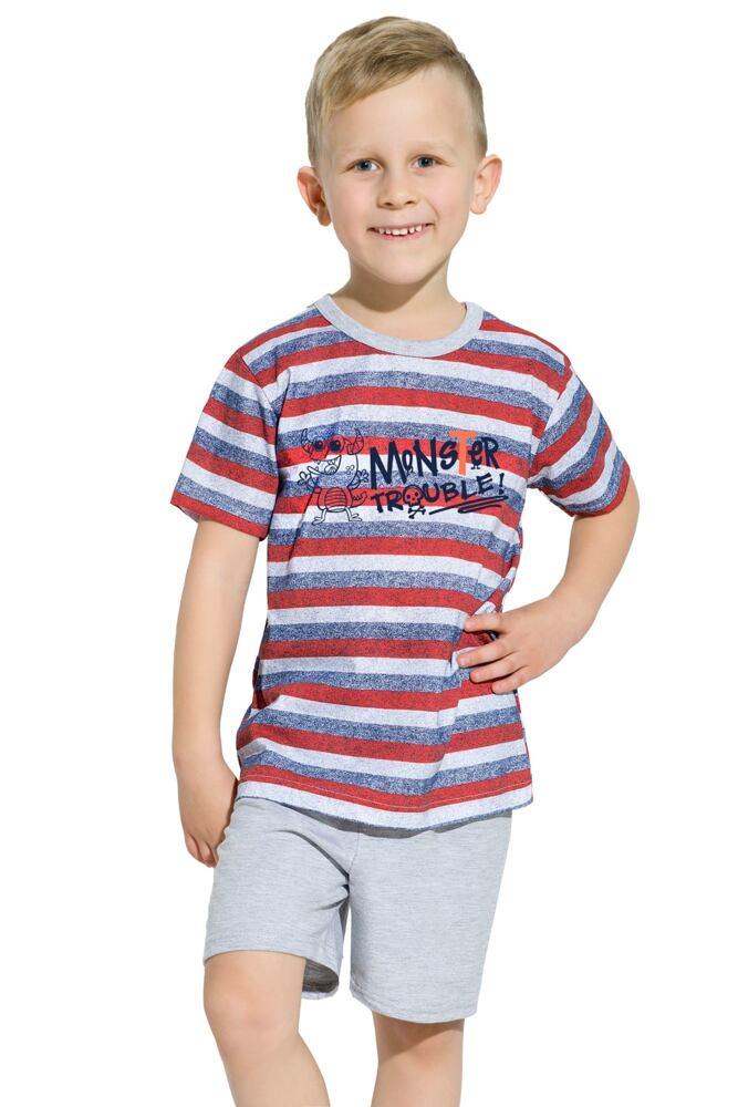 Chlapecké bavlněné pyžamo Maxík pruhované velikost 116