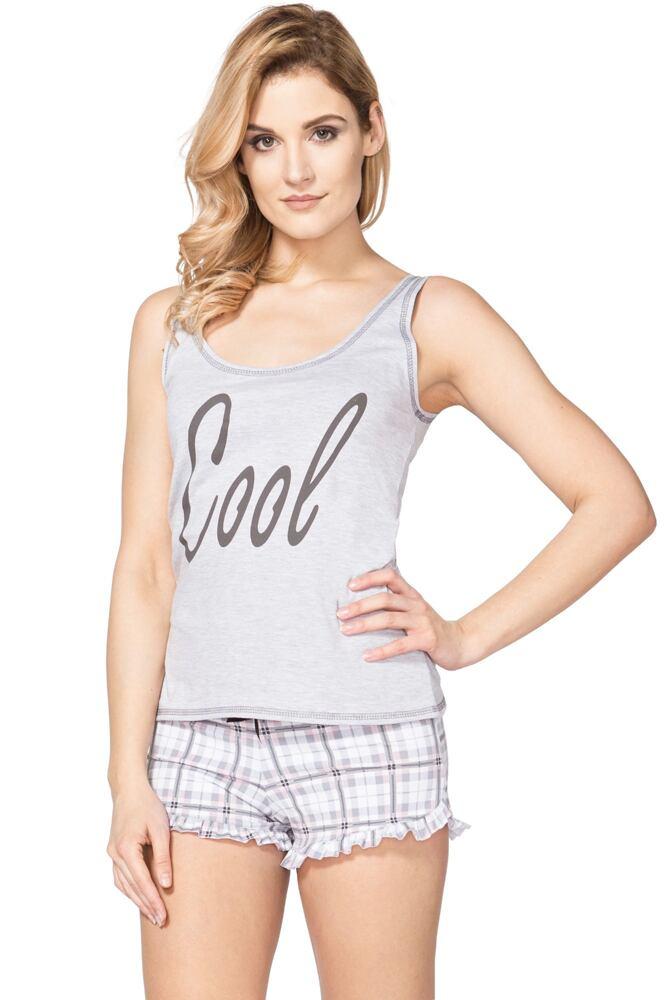Dámské šedé bavlněné pyžamo Nicol velikost L