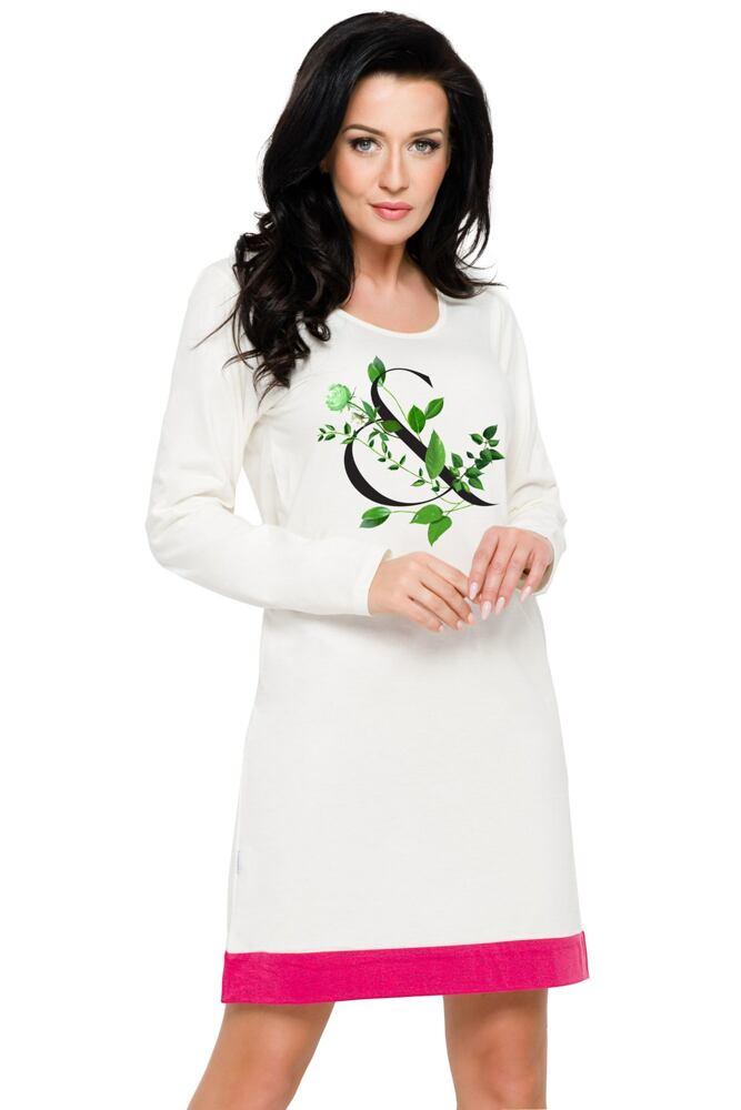 Bavlněná dámská noční košile Viva ecru velikost XL