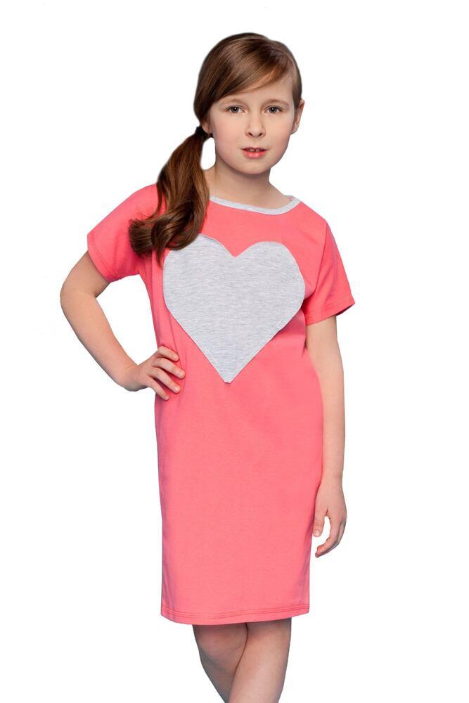 Dívčí noční košile Pippa se srdcem velikost 128 6a0fae63b4