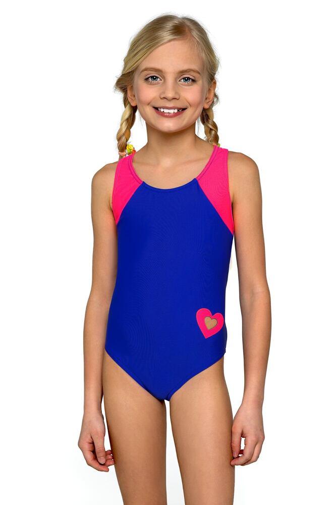 Dívčí jednodílné plavky Eliška modrorůžové velikost 146