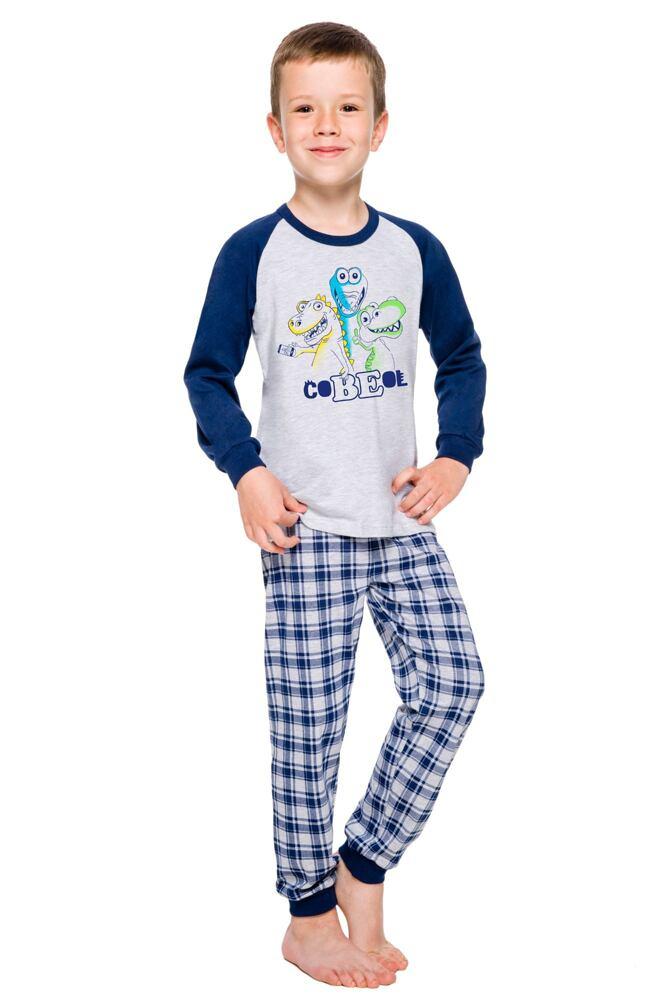 Chlapecké pyžamo Oskar šedé dinosauři velikost 92